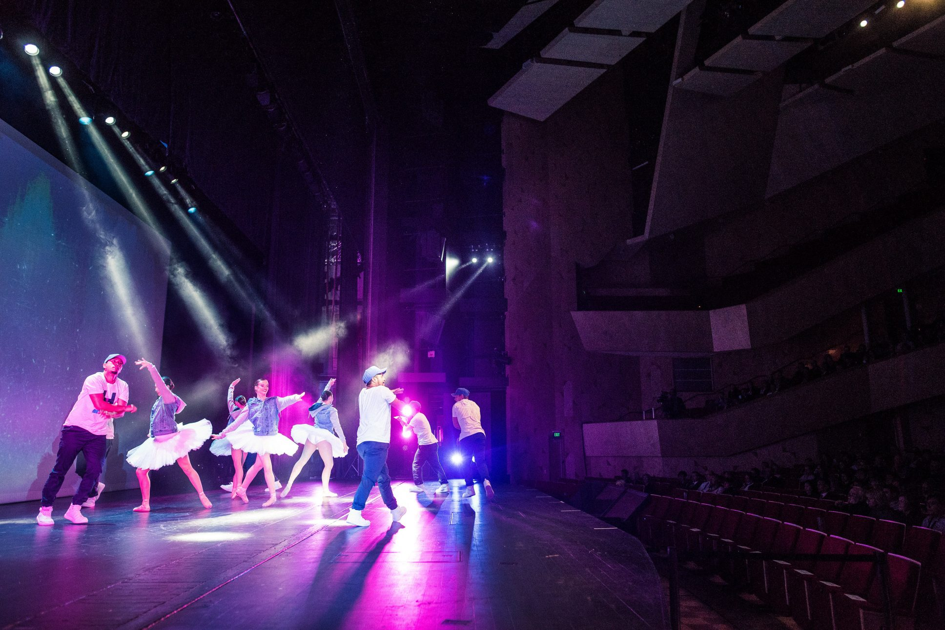 Stage performance at Aotea Centre in Auckland.