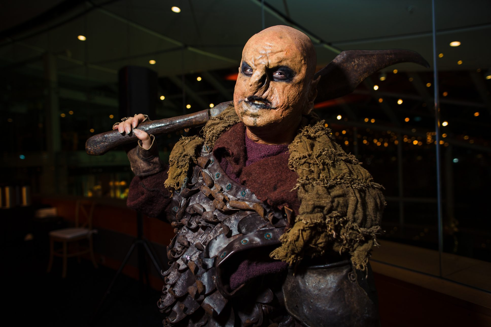 Man dressed in orc costume from lord of the rings