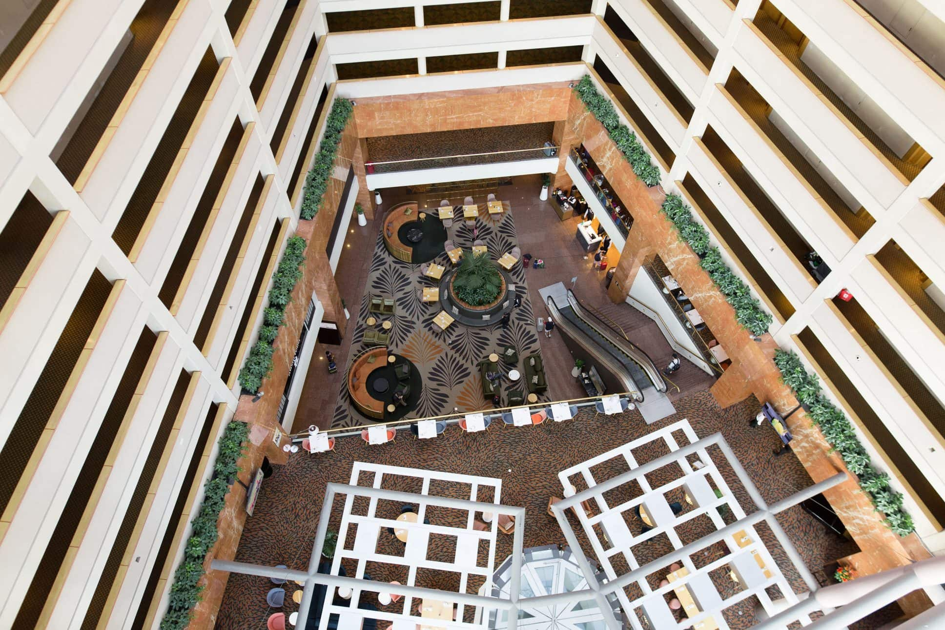 Top down view inside Grand Millennium Auckland