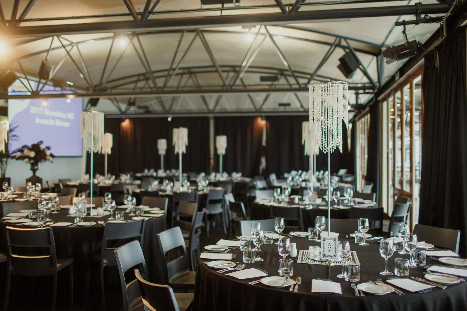Aucklands, The Maritime Room set up for event