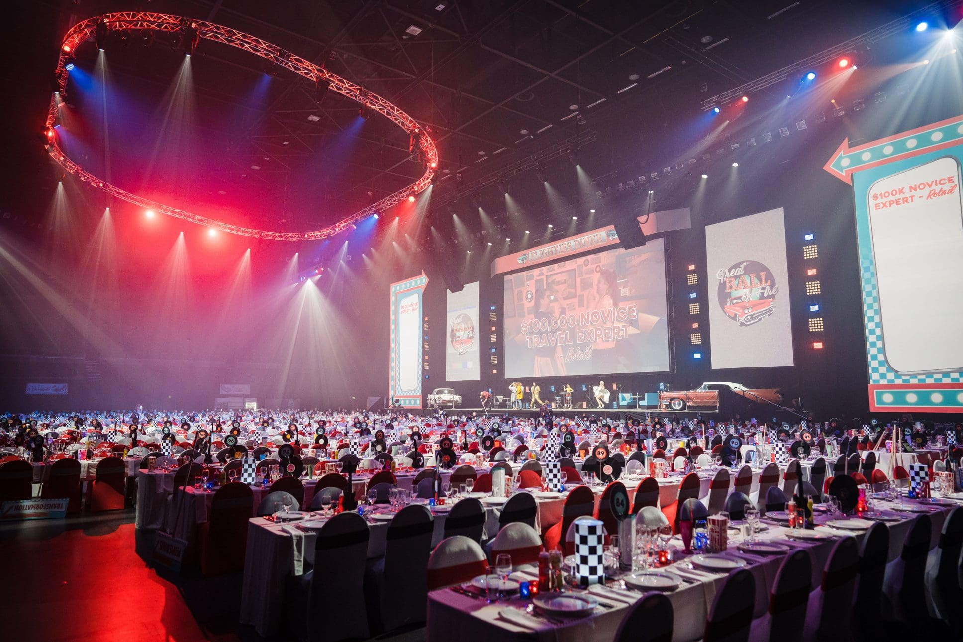 Banquet event at Spark Arena Auckland.