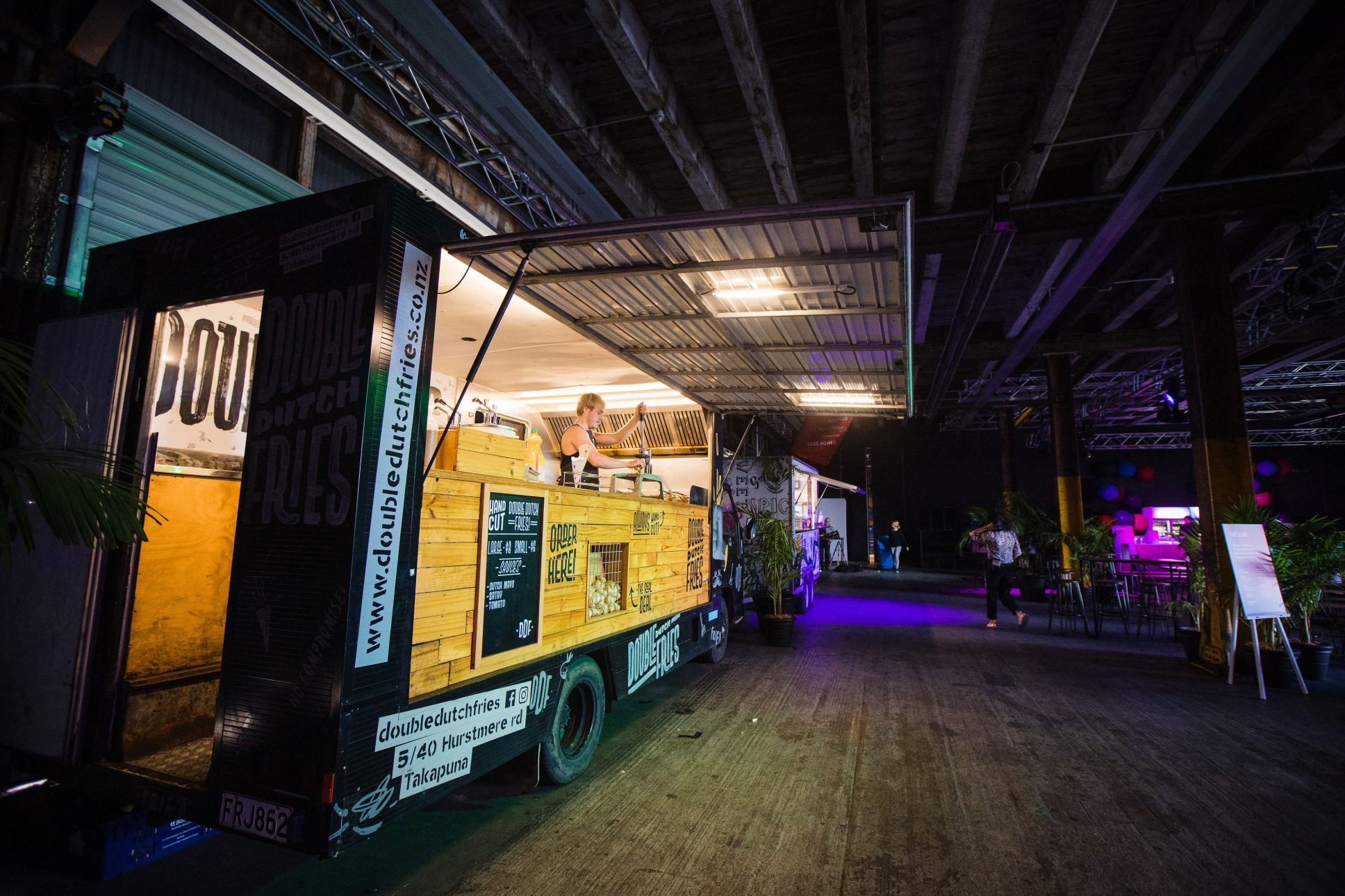 Food truck at event in Shed 10 Auckland.