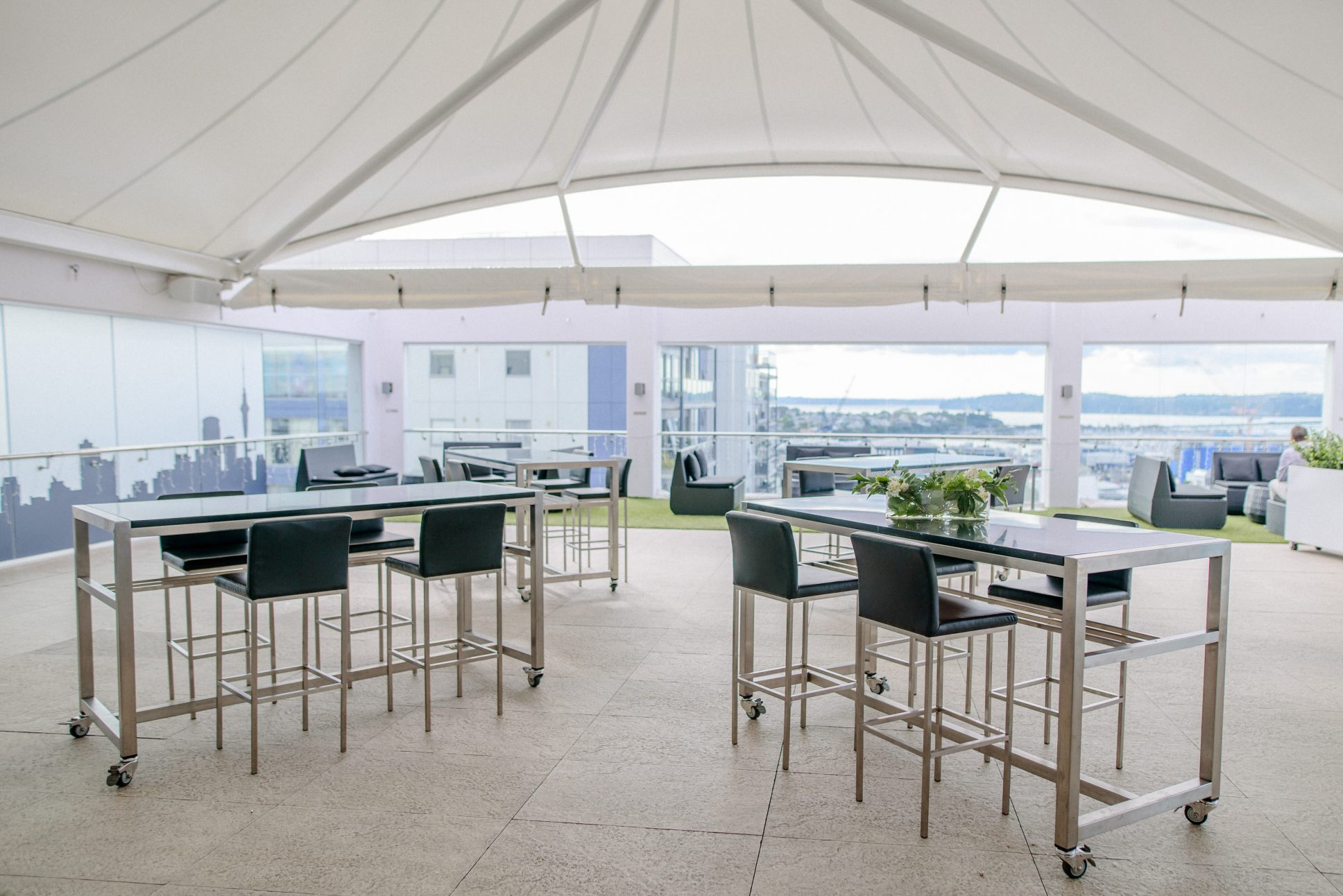 The Rooftop Terrace event space at Rydges Auckland.
