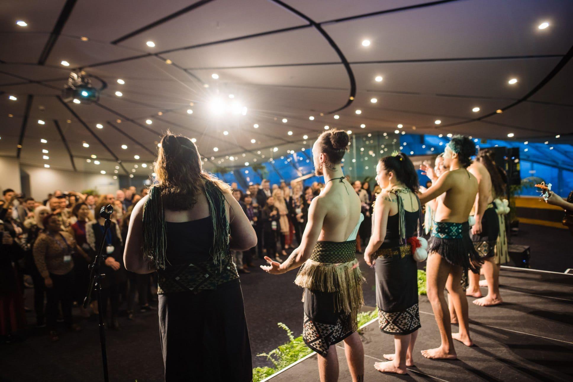 Maori performance at event at Auckland War Memorial Museum.
