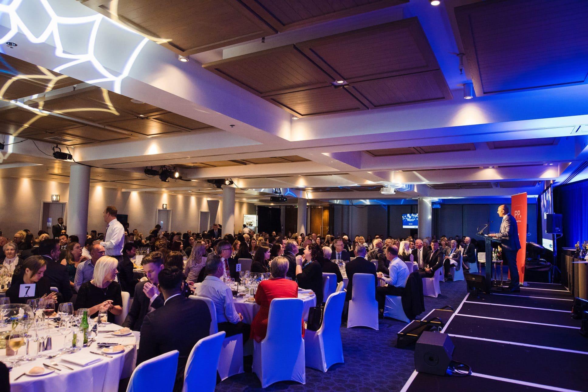 Hilton Auckland gala dinner event.