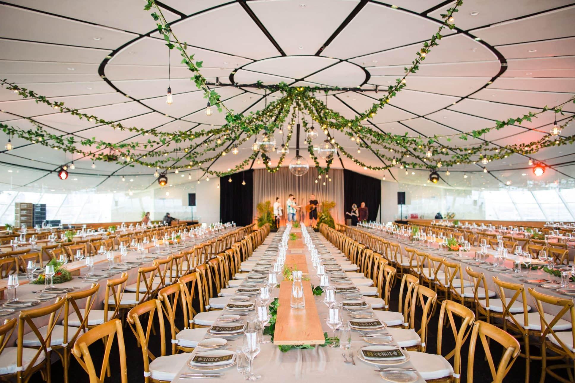 Gala-dinner event at Auckland War Memorial Museum.