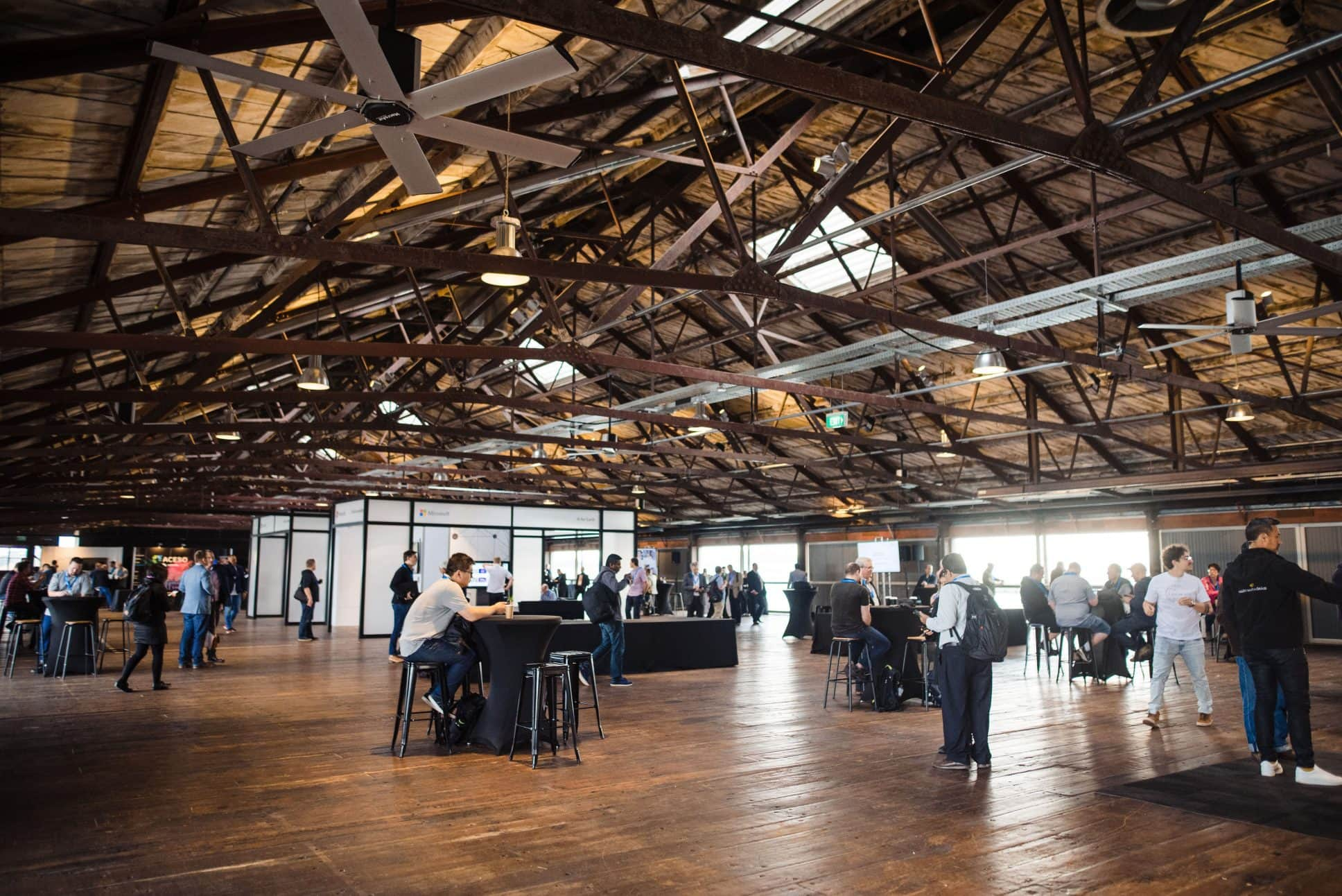 Event on top floor at Auckland's Shed 10.