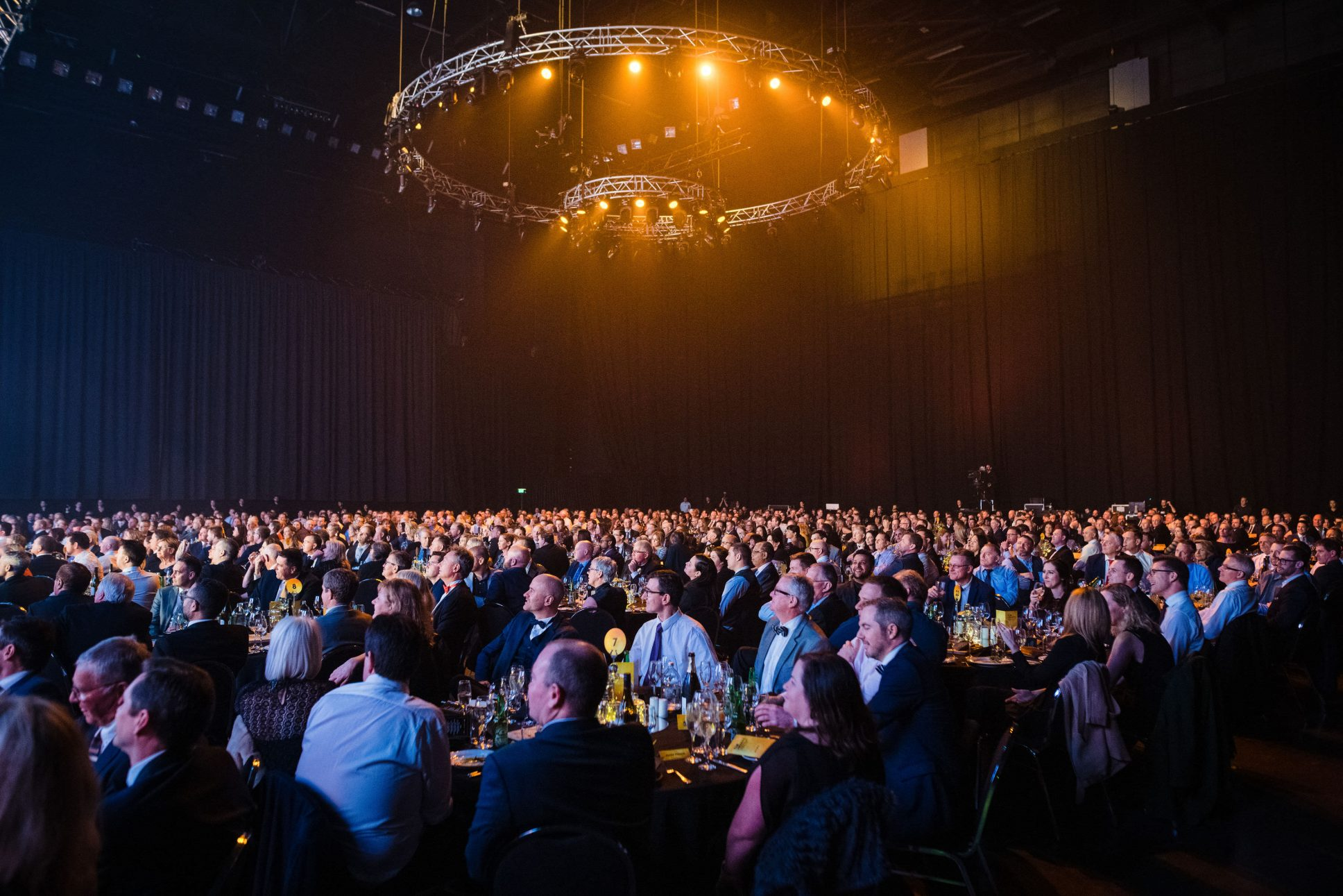 Gala dinner event at Auckland waterfront venue Spark Arena.