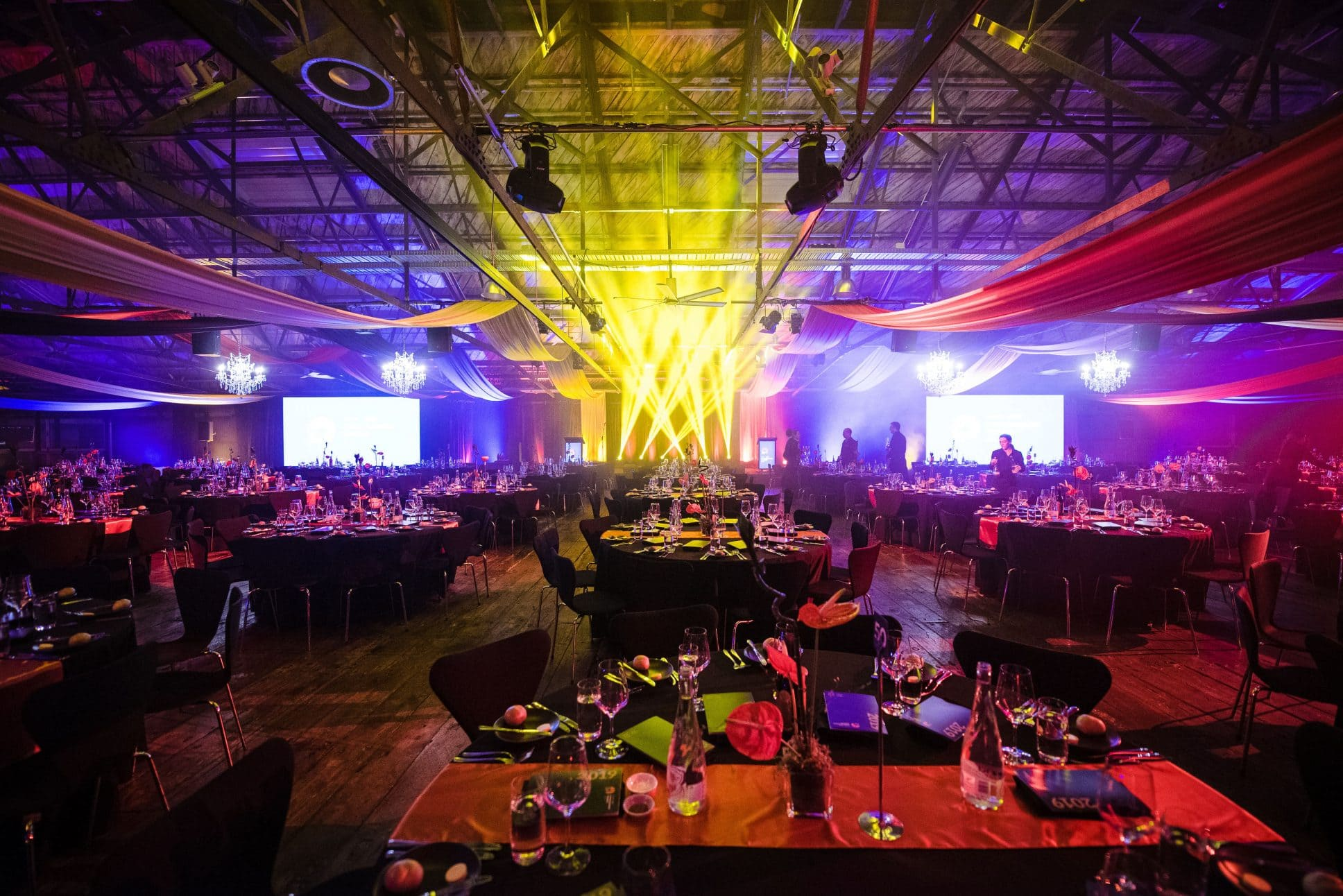Gala-dinner event at Shed 10 Auckland.