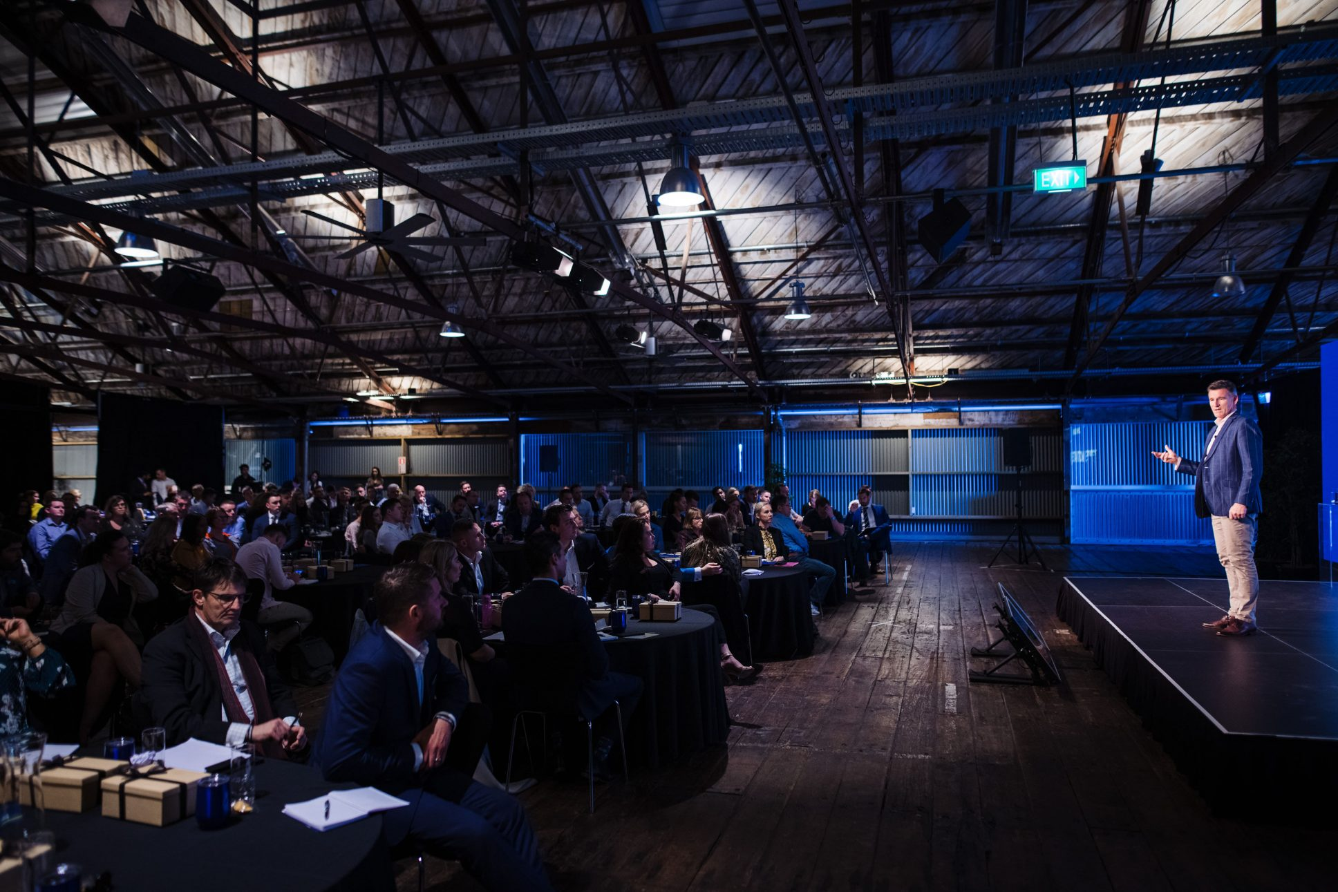 Conference held at Auckland's Shed 10.