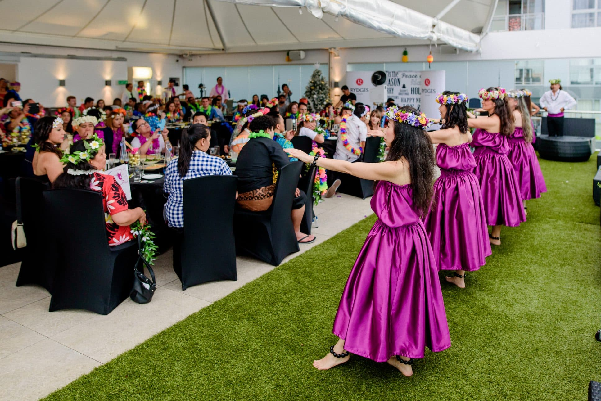 Hawaiian dance at event at Rydges Auckland.