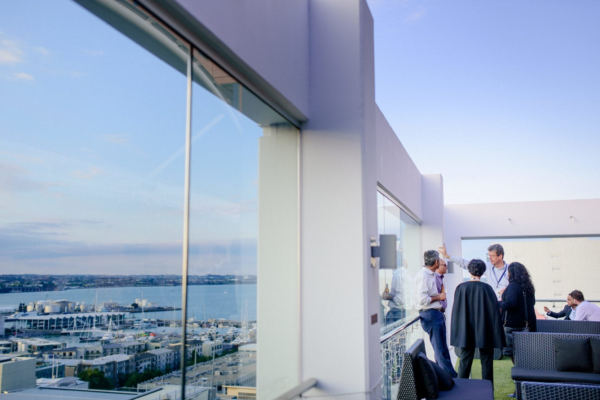 Epic view from the rooftop terrace at Rydges Auckland.