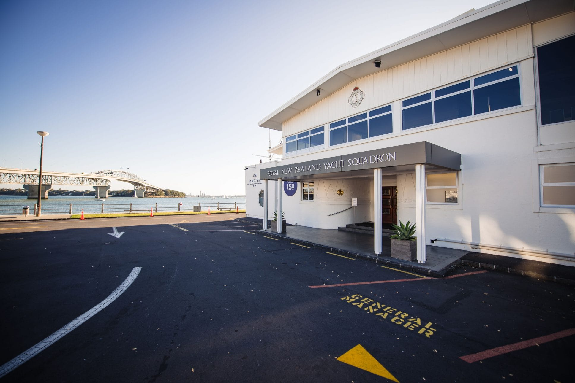 The Royal New Zealand Yacht Squadron events venue.