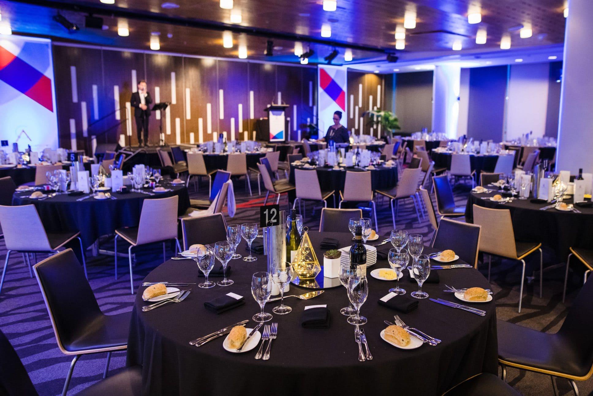 Eden Park gala dinner in Auckland.