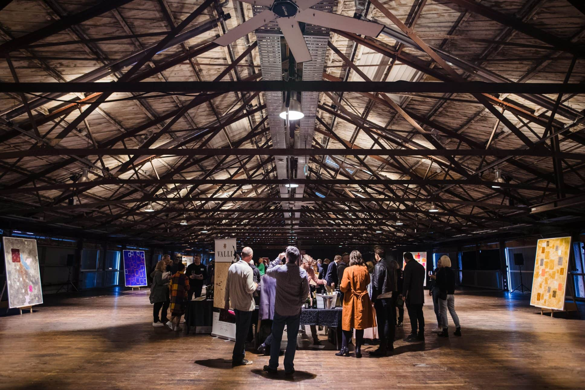 Art of wine wine tasting exhibition held at Auckland's Shed 10