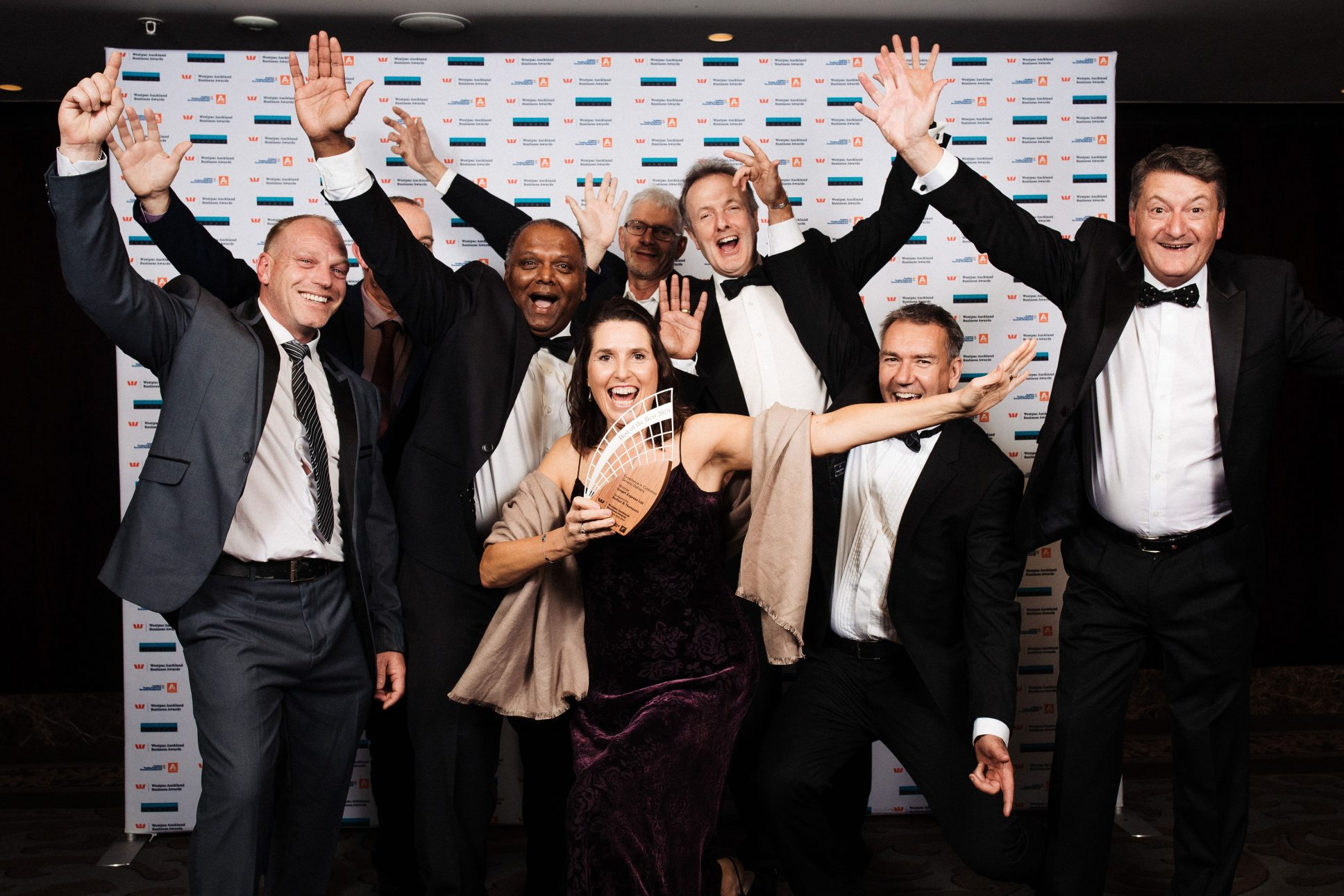 Winners at the Westpac Auckland Business awards held at the Cordis Hotel