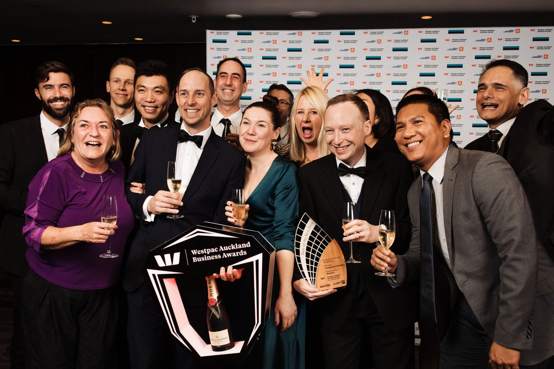 Winners at Westpac business awards Auckland held at Cordis