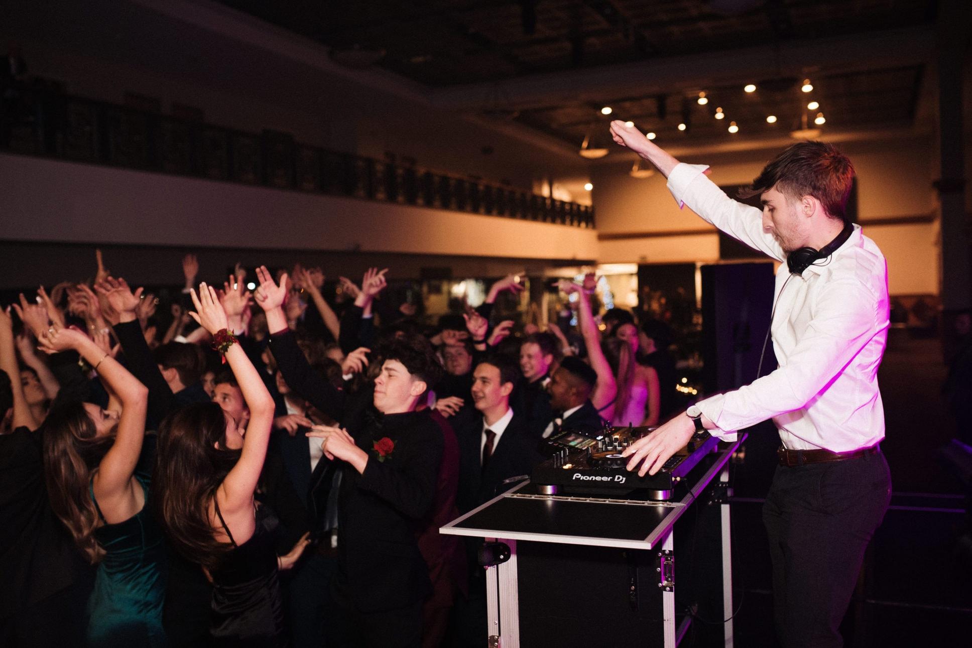 Dj inspo at school ball in Auckland.