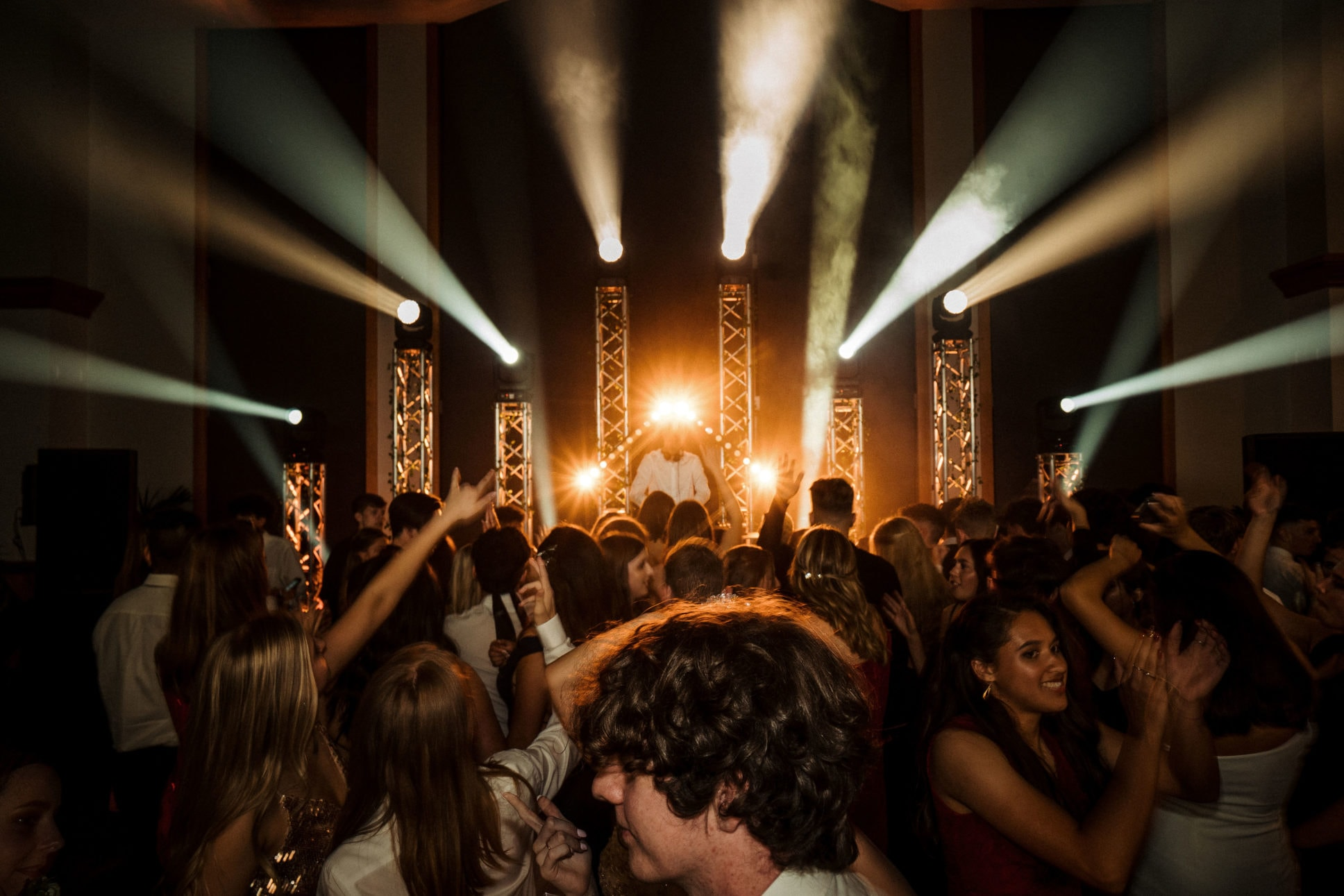 Longbay college ball dancefloor