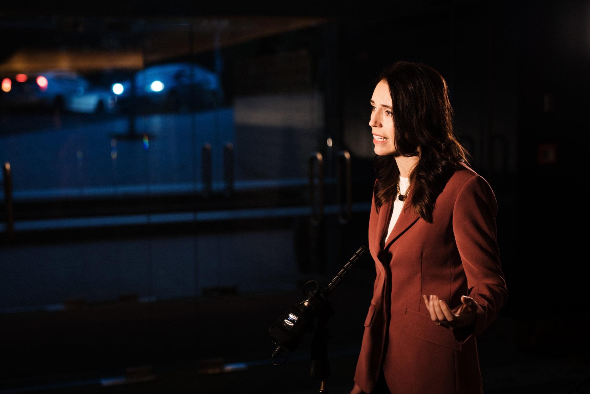Jacinda Ardern speaking at China Busniess Summit New Zealand.
