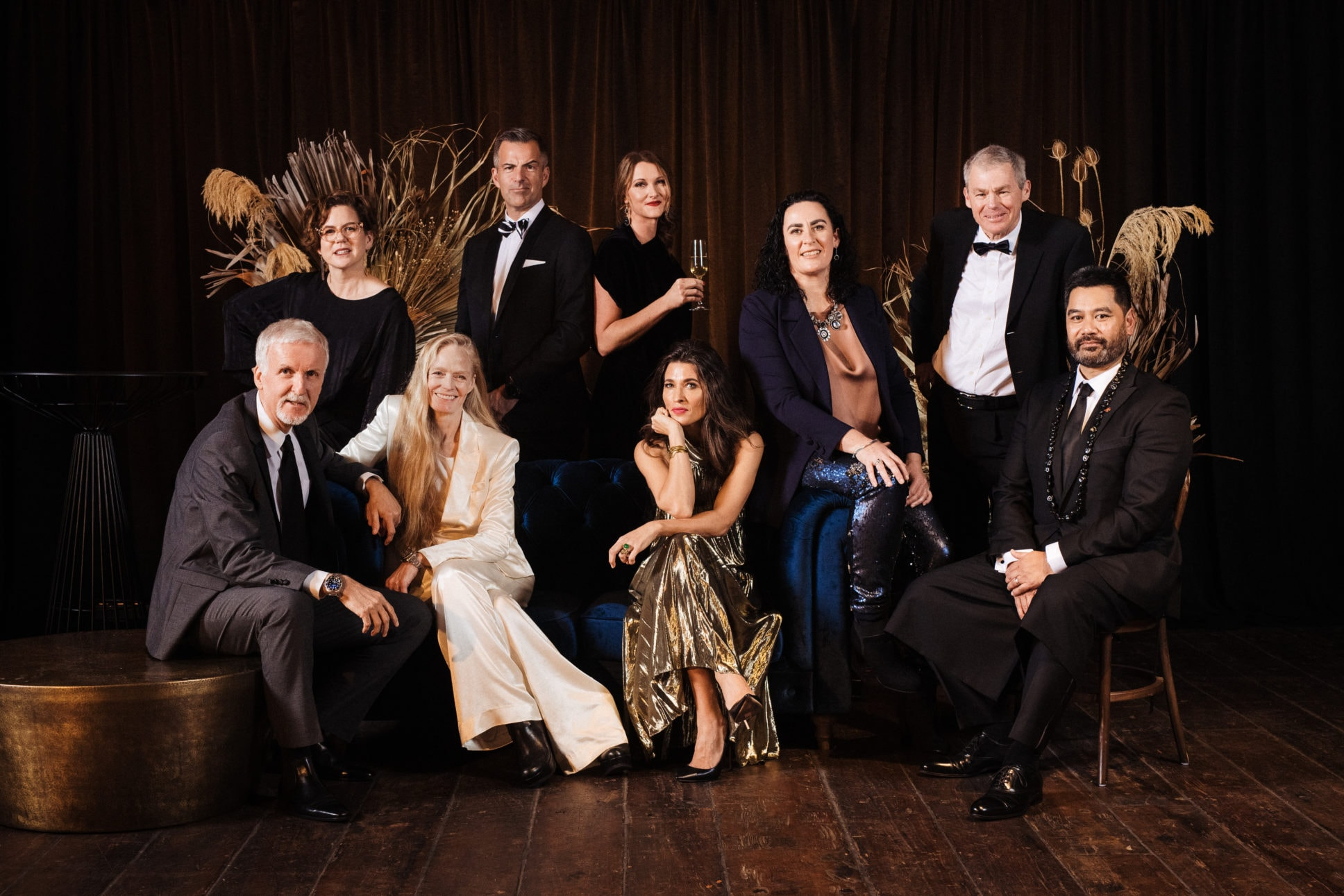 Vanity fair group photo with Hillary Barry at Shed 10 Auckland.